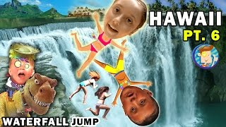 WATERFALL JUMPING KIDS! Epic Hiking Adventure @ Twin Falls Hawaii (FUNnel Vision Trip - Maui Part 6)