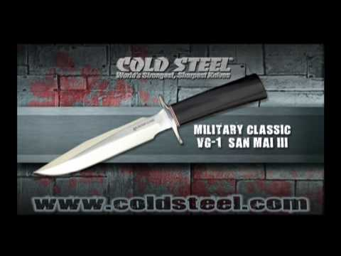 "Cold Steel R1 Military Classic Fixed Blade Knife (7"" San Mai III) 14R1J"