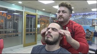 ASMR Turkish Barber Face,Head and Body Massage 200