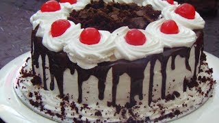 Black Forest Cake Without Oven - Bakery Style Black Forest Cake