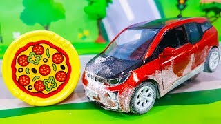 Мультики про машинки. Игрушка машинка в муке – Новый мультик про пиццу Лего мультфильмы для детей