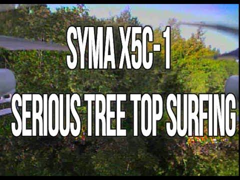 Syma X5C-1 | Serious Tree Top Surfing. Feat.TX03 (BANGGOOD)