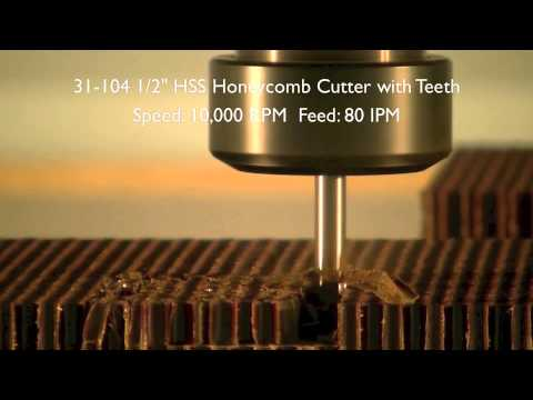 29-000 High Speed Steel Hollow Core Tool Cutting Honeycomb Video by LMT Onsrud