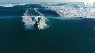 Rare Footage Of Jet Skier Riding Standing Wave