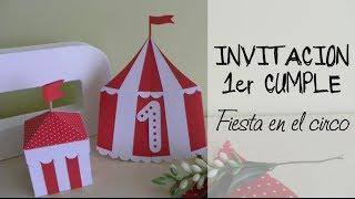 Invitación 1 cumpleaños: Tarjeta circo