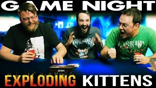 Exploding Kittens Card Game GAME NIGHT!!