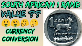 What is the value of South African 1 Rand | South African Currency | how to sell coins and currency