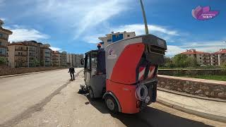 Temizlik İşleri Müdürlüğü ekipleri kentin çeşitli bölgelerinde bahar temizliğine başladı