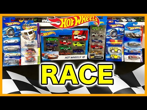 OPENING HOT WHEELS CARS - Fire Police Race Car Fastest Family Video Fun