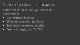 Cert Exam Prep: Exam 70-773: Analyzing Big Data with Microsoft R | BRK3172