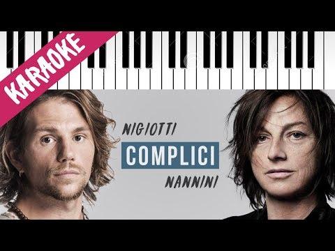 Enrico Nigiotti & Gianna Nannini   Complici // Piano Karaoke con Testo