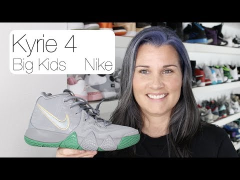 Kyrie 4 Big Kids Basketball shoe review and comparison to the Men's shoe