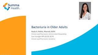 Asymptomatic Bacteriuria in Older Adults