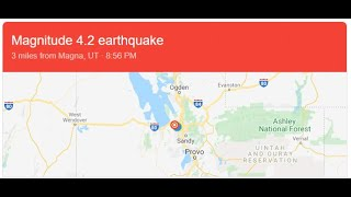 Woken From Sleep In Dream To Another Utah Earthquake!!!