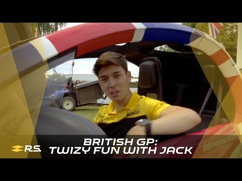 British GP: Twizy Fun with Jack Aitken