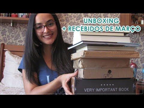 ? Unboxing + Recebidos de Março (Book Haul) l 2019
