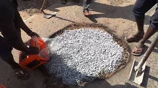 Instant Pothole repair in Bengaluru India  using Instarmac