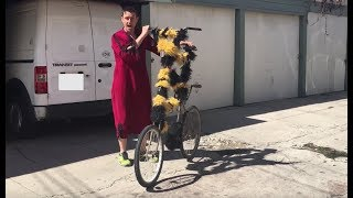 Thief Caught Stealing My Tall Bike Recieves Karma