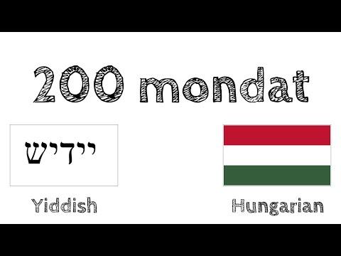 200 mondat – Jiddis – Magyar