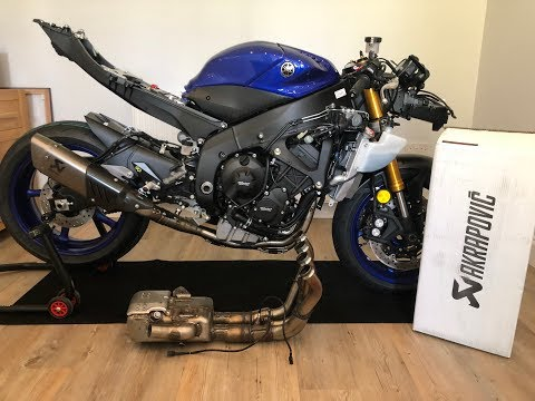 2017 2018 Yamaha Yzf R6 Gytr Akrapovic Exhaust And Lightech Rearsets Installed On My Track Race Bike