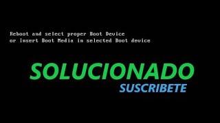 Reboot and Select proper boot device Sorunu ve Çözümü