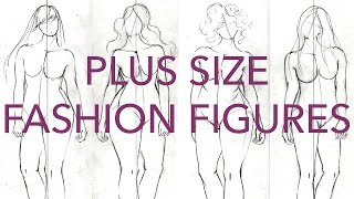 How To Draw Plus Size Fashion Figures