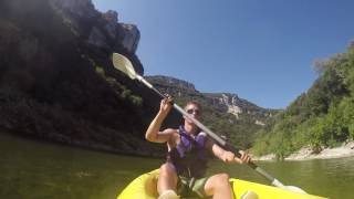 Kayaking the Ardèche river