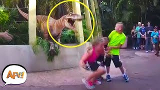 They didn't EXPECT THAT! Funniest Amusement Park Videos | AFV