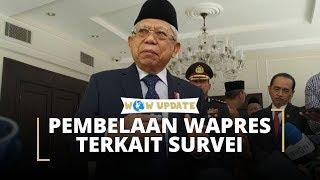 Pembelaan Ma'ruf Amin Terkait Survei Indo Barometer yang Tunjukkan Kinerja Wapres di Bawah Menteri