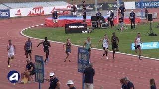 Angers 2019 : Finale 100 m Cadets (Remy Berdoux en 10''91)