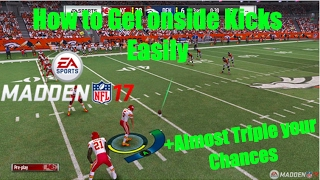 Madden 17 How To Recover Onside Kicks Easy