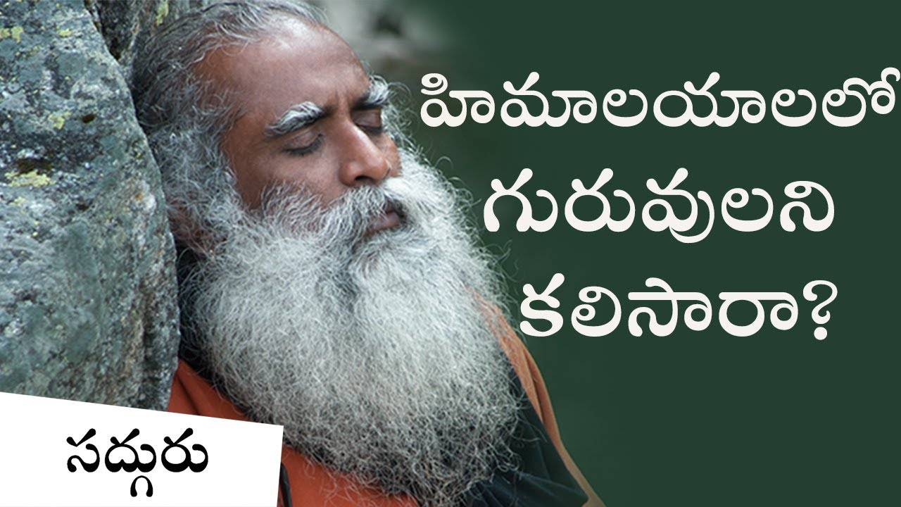Sadhguru Telugu.