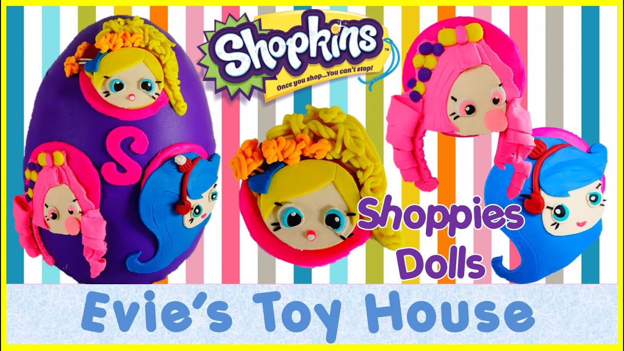 Giant Surprise Egg Featuring NEW SHOPKINS SHOPPIES DOLLS | Evies Toy House