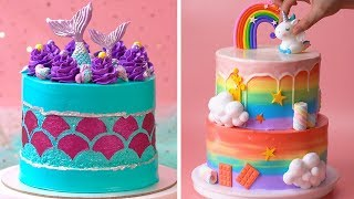 How To Make Cake For Your Coolest Family Members | Yummy Birthday Cake Hacks