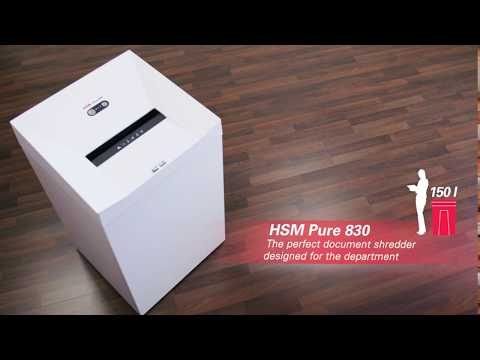 Video of the HSM Pure 830 Shredder