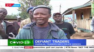Defiant traders: Business as usual in Maralal as traders defy police orders