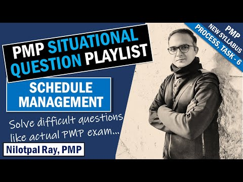 PMP SITUATIONAL QUESTIONS (2021) | Schedule Management ...