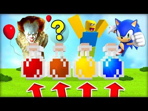 NOOB SI NESMÍ VYBRAT ŠPATNĚ ELIXÍR! (Pennywise, ???, Robloxak, Sonic)