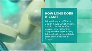 How long does Adderall stay in your system?  #Drugtest #Urinetest #BloodTest #HairTest