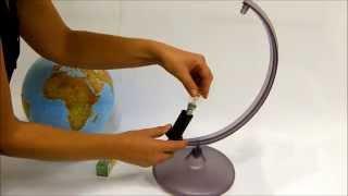 """Глобус в подарочной коробке Orion на подставке с подсветкой, 30см на укр. яз от компании Интернет-магазин """"Радуга"""" - школьные рюкзаки, канцтовары, творчество - видео"""