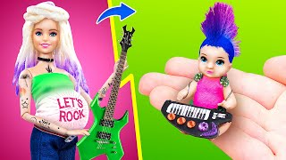 12 DIY Baby Doll Hacks And Crafts / Miniature Rock Baby, Cradle, Diapers And More!