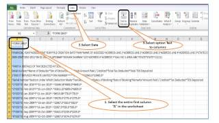 Convert Form 26AS Text File to Excel