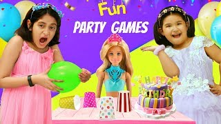 Kids Pretend Play PARTY GAMES | Flipkart Play Time - Barbie's Birthday Celebration | Toystars