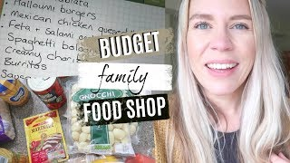 BUDGET FAMILY OF SIX ALDI FOOD SHOP AND MEAL PLAN
