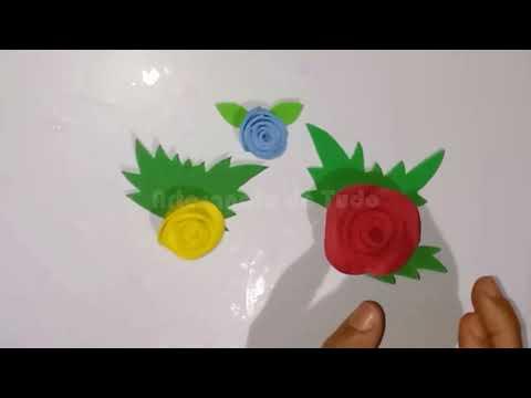 Como fazer uma linda flor em EVA muito rpido e fcil!!