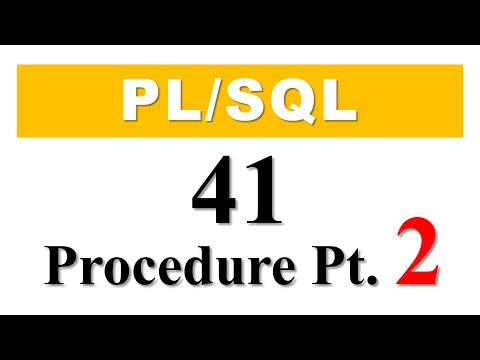 PL/SQL tutorial 41: How To Create PL/SQL Stored Procedure Without Parameters in Oracle Database