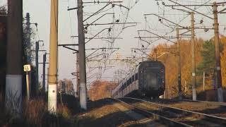 Электровоз ЭП20-057 с поездом№740А Брянск-Москва перегон Нара-Бекасово 1 15.10.2018