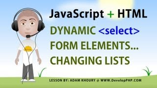 JavaScript Form Select Change Dynamic List Option Elements Tutorial