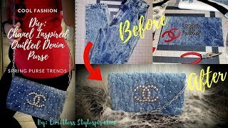 DIY: CHANEL INSPIRED QUILTED DENIM PURSE
