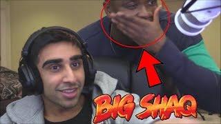 Big Shaq Appears In Livestream